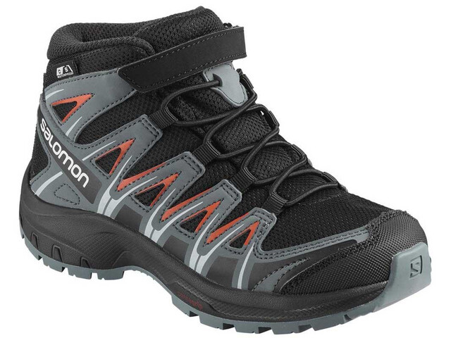 Salomon XA Pro 3D Mid CSWP Scarpe Bambino, black/stormy weather/cherry tomato